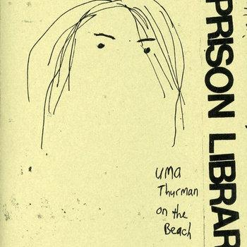 uma thurman on the beach cover art
