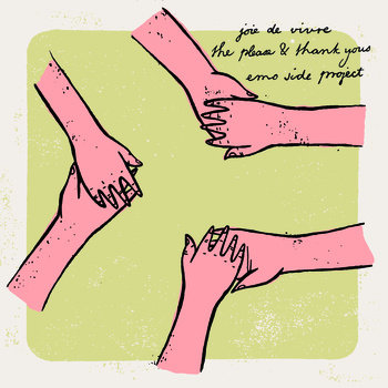"Joie de Vivre / The Please & Thank Yous / Emo Side Project Split 7"" cover art"