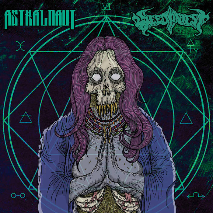Astralnaut / Weed Priest - Split Single 2015 cover art