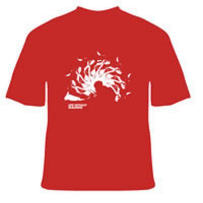 Life Without Buildings - Red Spiral T-shirt cover art