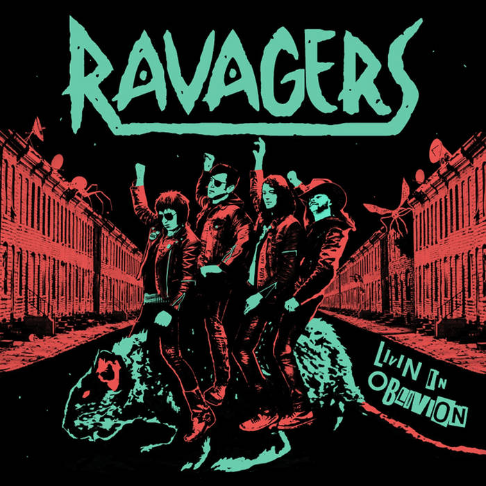 "RAVAGERS - Livin In Oblivion 12"" cover art"