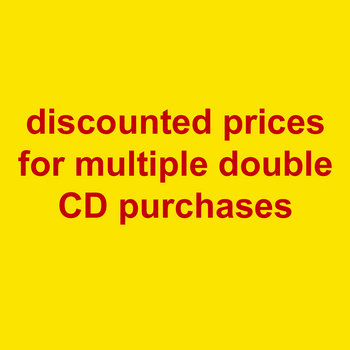 discounted prices for multiple double CDs cover art