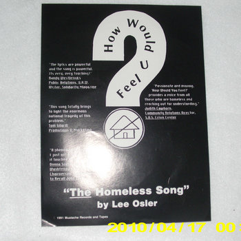 """HOW WOULD U FEEL?  (The Homeless Song) cover art"