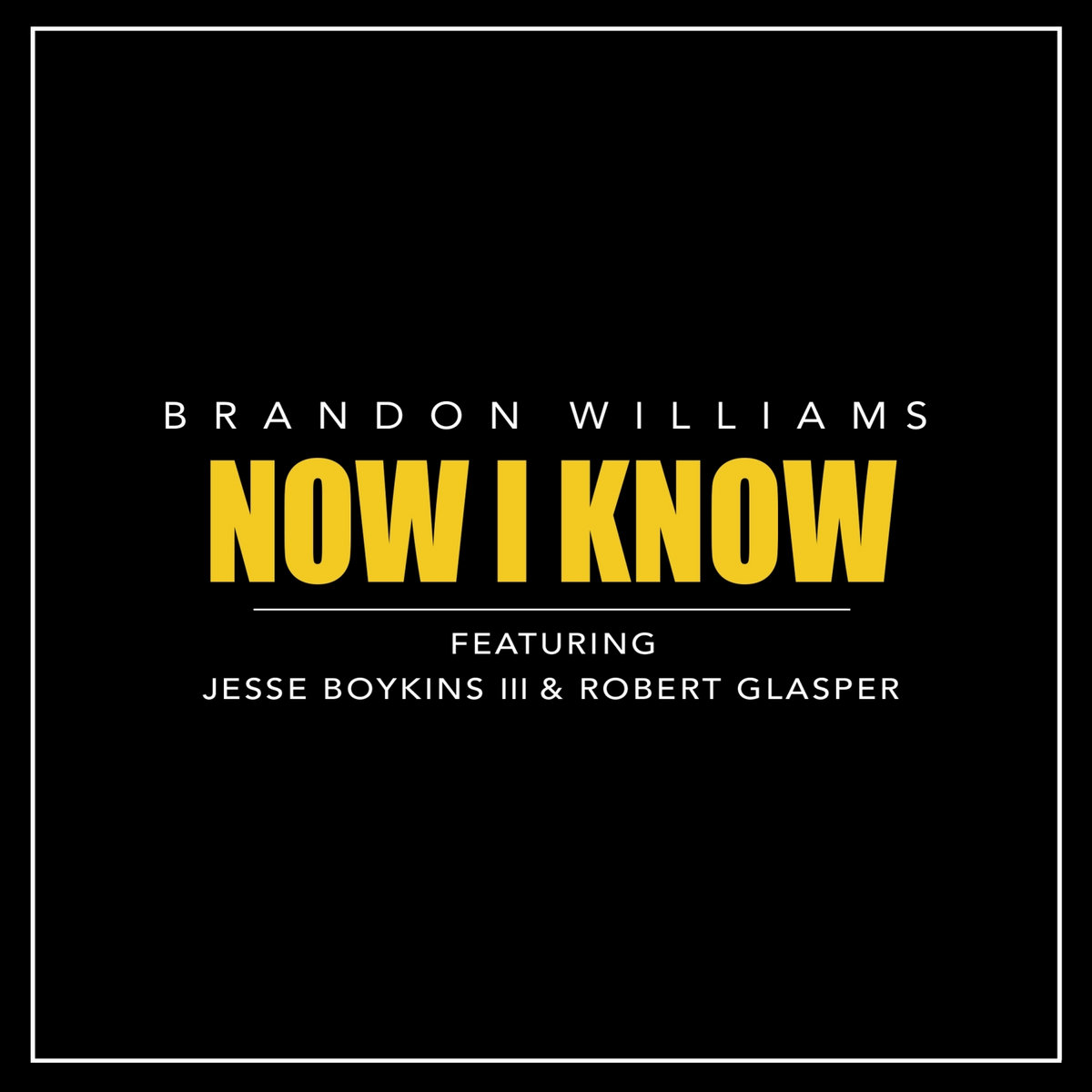 Now I Know feat. Jesse Boykins III & Robert Glasper by Brandon Williams