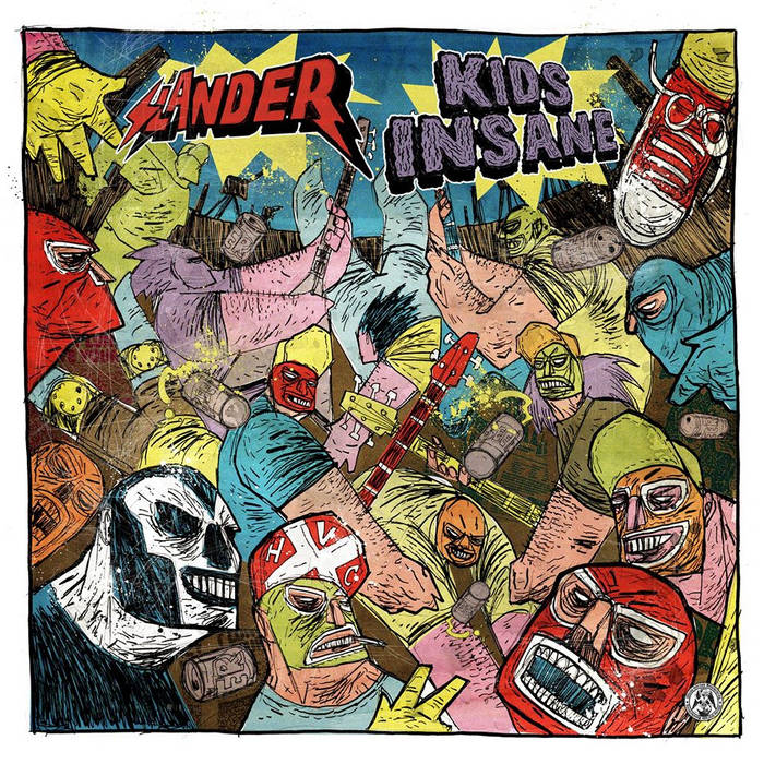 "Kids Insane / Slander Split 12"" cover art"