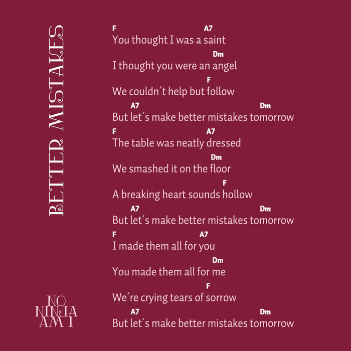 Better Mistakes (single & pastiche) cover art