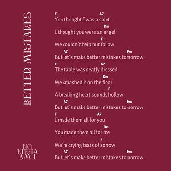 Better Mistakes (single & pastiche) cover art