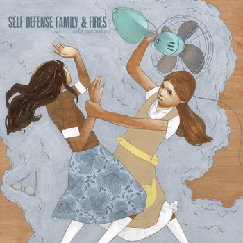 "Fires / Self Defense Family split 7"" cover art"