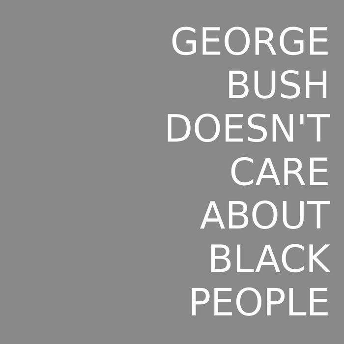 George Bush Doesn't Care About Black People cover art