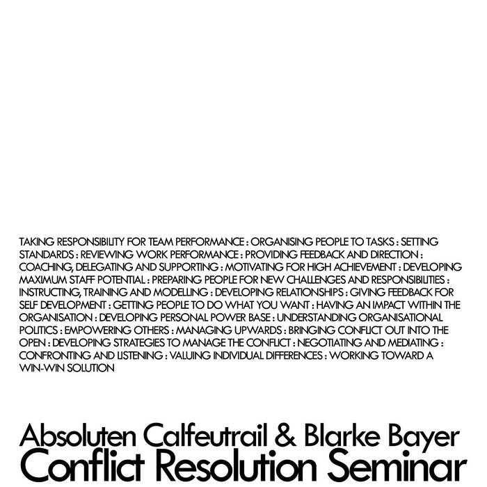 Conflict Resolution Seminar cover art