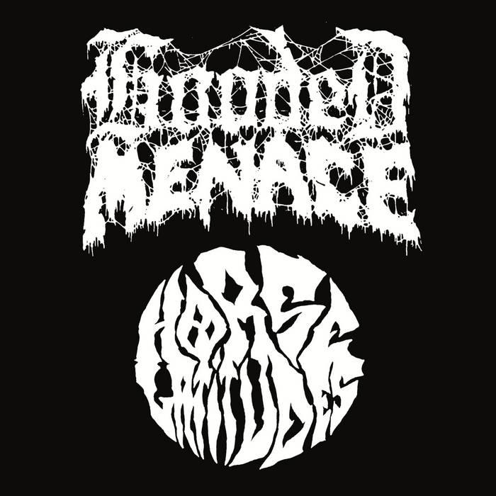 "Hooded Menace/Horse Latitudes split 12"" cover art"