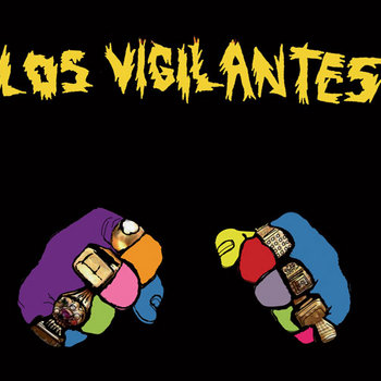"LOS VIGILANTES ""self-titled"" LP cover art"