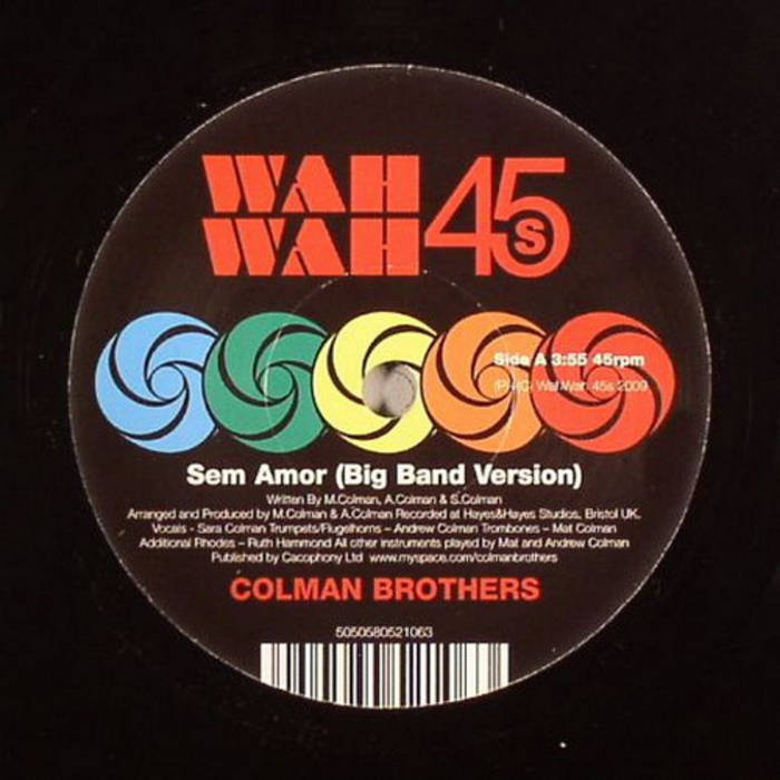 """Sem Amor 7"""" Single cover art"""