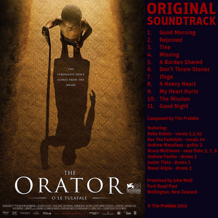 THE ORATOR Film Soundtrack cover art