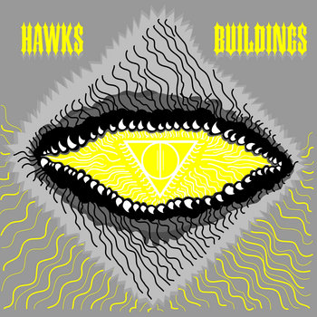 "Buildings / Hawks split 7"" cover art"