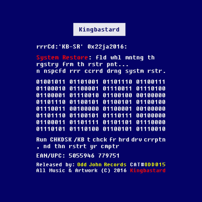 System Restore cover art