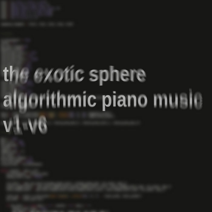 Algorithmic Piano Music V1-V6 cover art