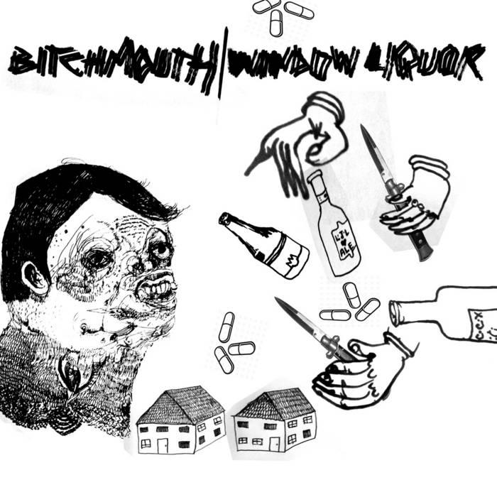 "Window Liquor/Bitchmouth Split 7"" cover art"