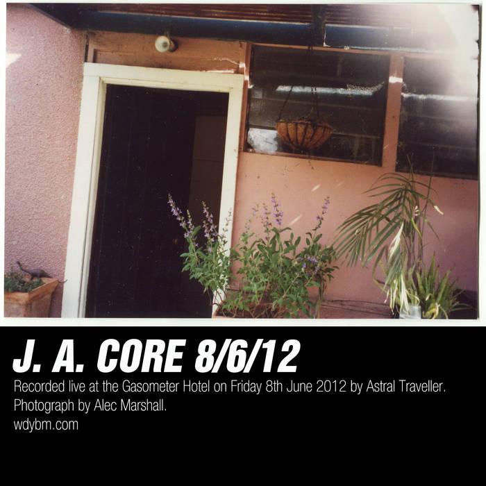 J. A. Core 8/6/12 Gasometer cover art