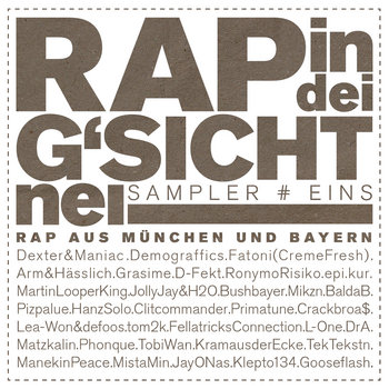 Rap in dei G'sicht nei! Sampler # eins cover art