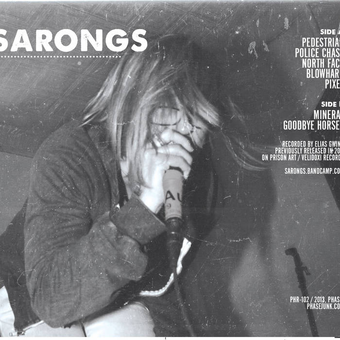 Sarongs S/T cassette (2013 Phase! re-release) cover art
