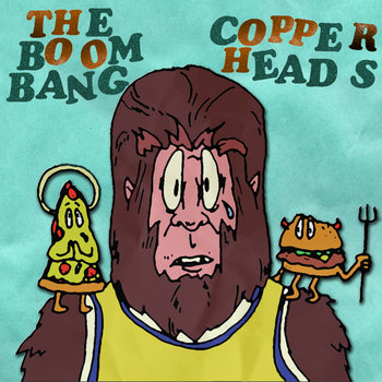 "The Boom Bang/Copperheads - split 7"" cover art"