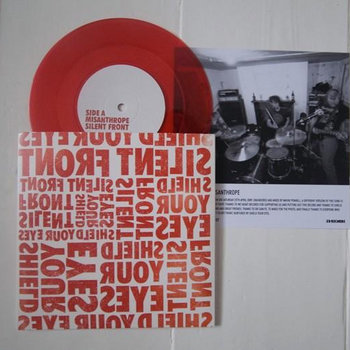 "Split Red 7"" w/ Shield Your Eyes cover art"