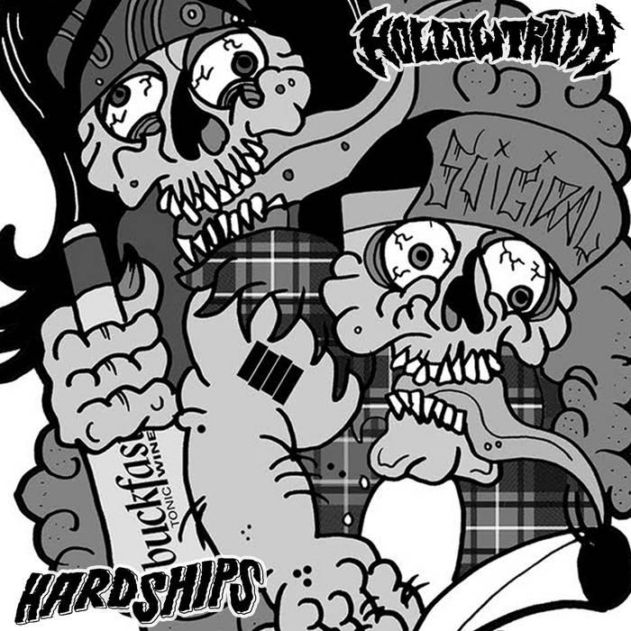 Hollow Truth / Hardships Split cover art