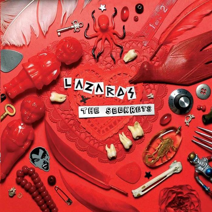 "Lazards / The Seekrets - split 7"" cover art"