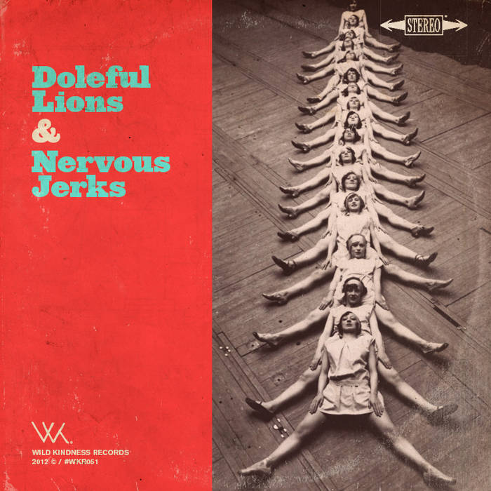 "Nervous Jerks / Doleful Lions Split Lathe-cut 8"" cover art"