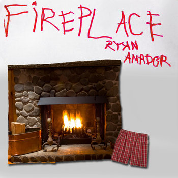 Fireplace cover art