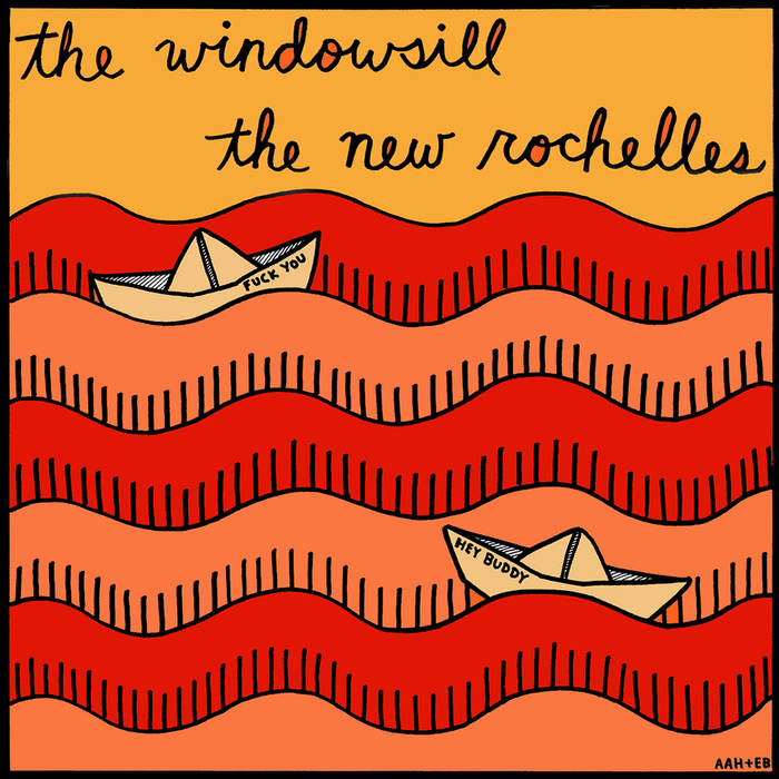 The New Rochelles / Windowsill split 7inch cover art