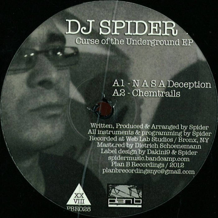 """Curse Of The Underground EP"" - DJ Spider (12"" Vinyl) cover art"
