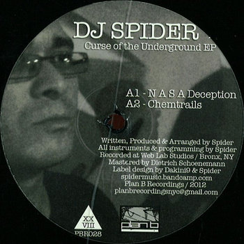 """Curse Of The Underground EP"" - DJ Spider (Vinyl Only) cover art"
