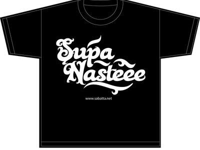 Supa Nas-TEE - White on Black Limited Edition T-Shirt and MP3 Package
