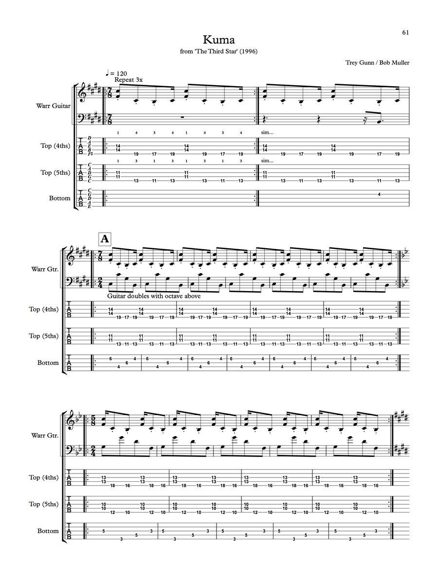 Sheet Music, Scores & Transcriptions | The Gabriel Construct