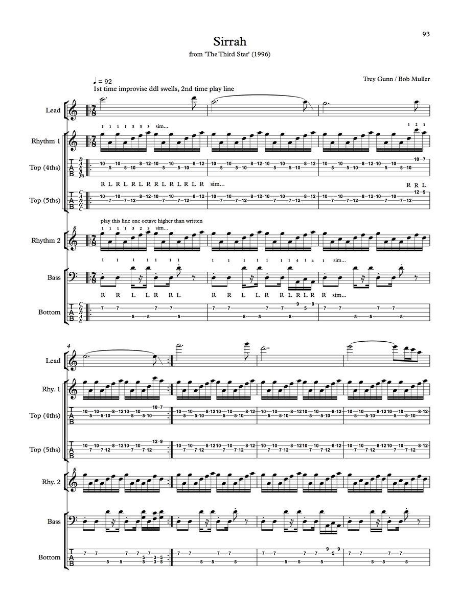 Sheet Music Scores Transcriptions The Gabriel Construct