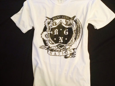 """BluntGutsNation Seal"" White Tee main photo"