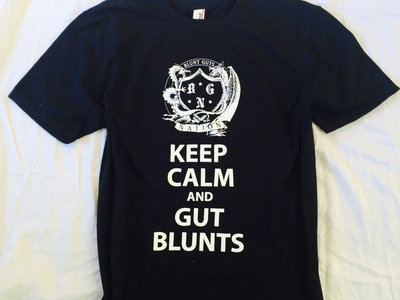"""Keep Calm & Gut Blunts"" Black Tee main photo"