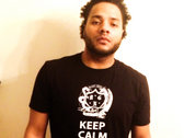 """Keep Calm & Gut Blunts"" Black Tee photo"