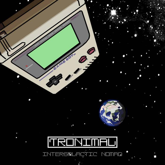 Lange Nacht der Computerspiele: Cover des Albums Intergalactic Nomad von Tronimal. Musik ist mit mehreren GameBoy zusammengestellt.