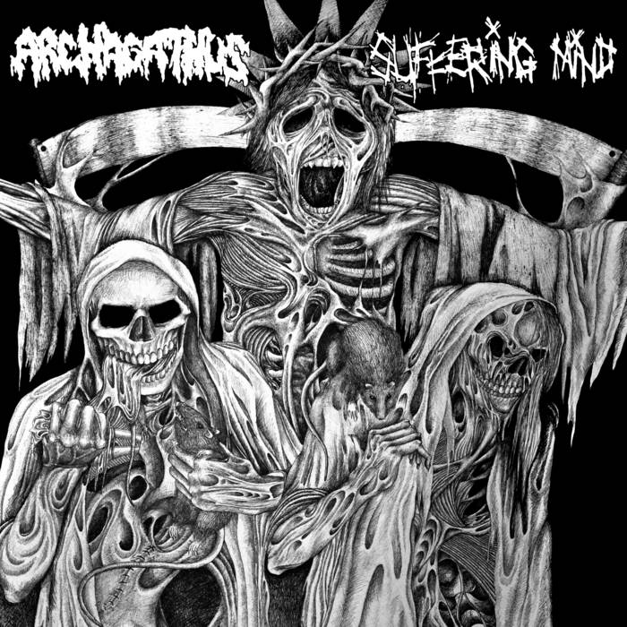 "split 7"" with ARCHAGATHUS cover art"