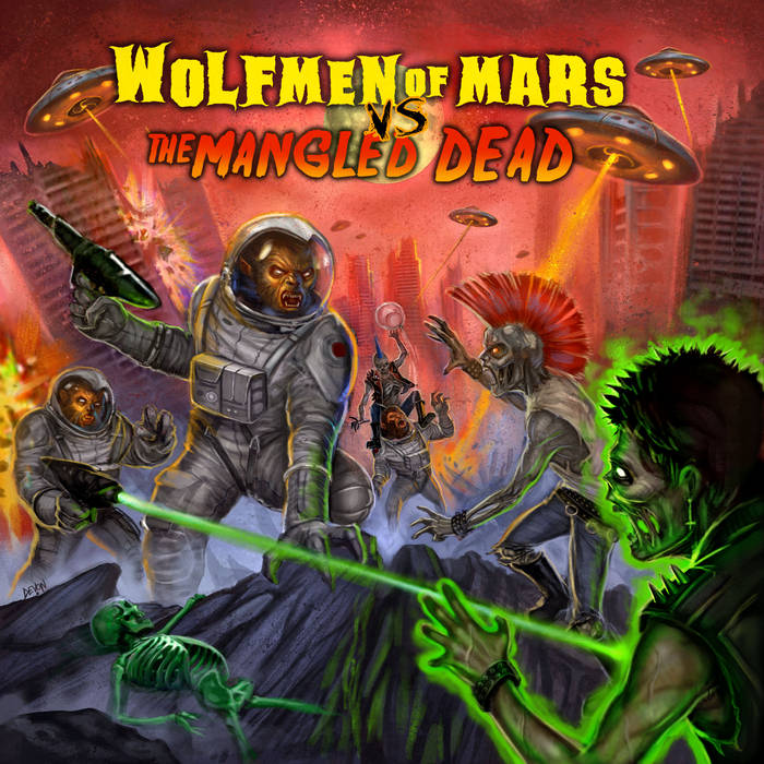 WOLFMEN OF MARS vs. THE MANGLED DEAD cover art