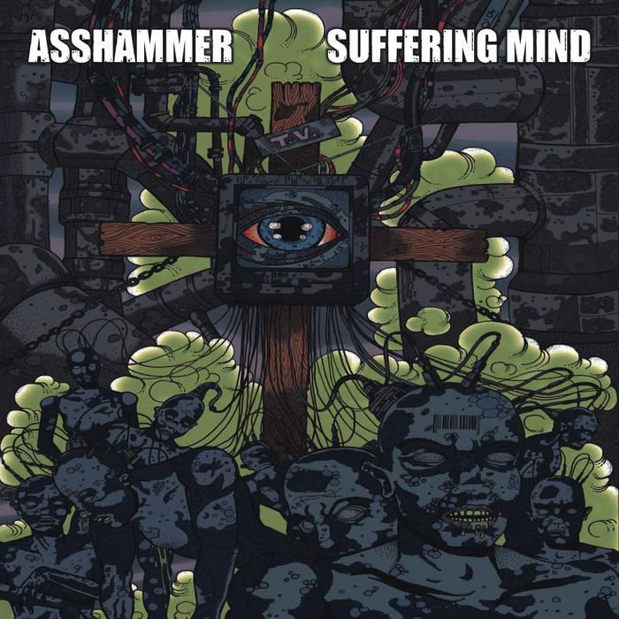 """split 12"""" with Asshammer cover art"""