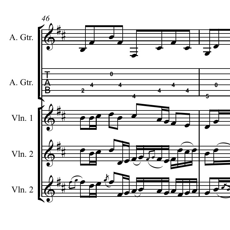 Celtic Violin And Guitar Sheet Music