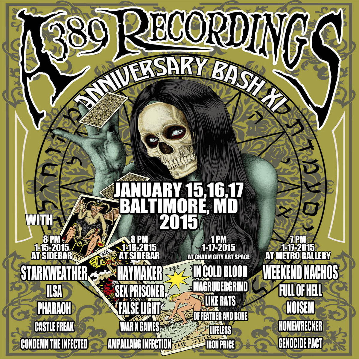 POSTER FOR THE A389 11TH ANNIVERSARY BASH