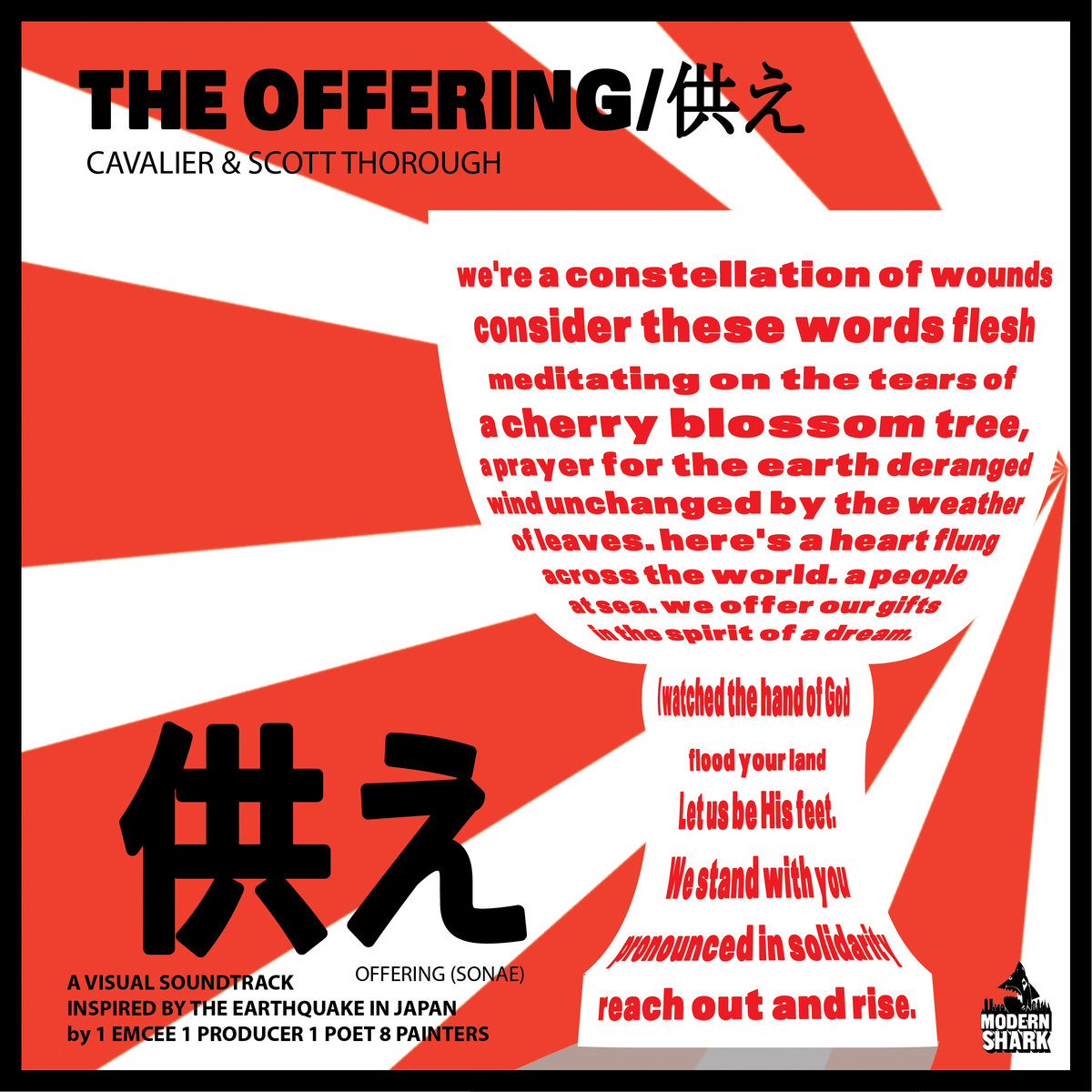 Album cover for Cavalier and Scott Thorough's Japanese disaster relief album The Offering