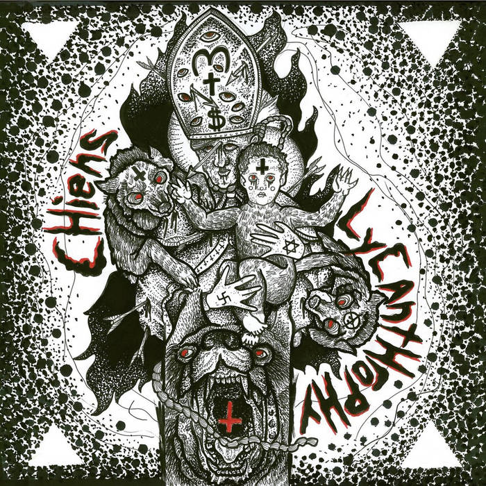 Split w/ Lycanthrophy 7'' cover art