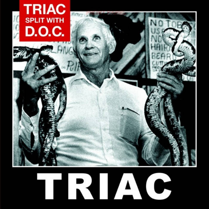 TRIAC / DISCIPLES OF CHRIST Split LP cover art