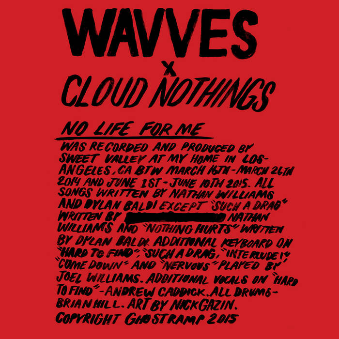 Wavves x Cloud Nothings cover art